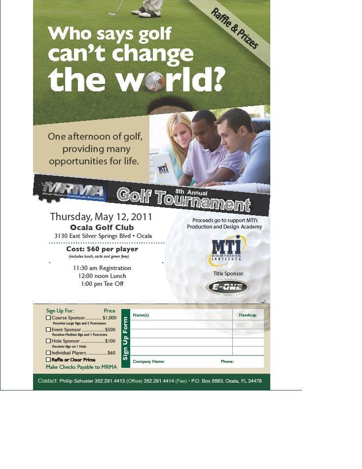 Golf Tournament Flyer Sample Golf Tournament Flyer Golf