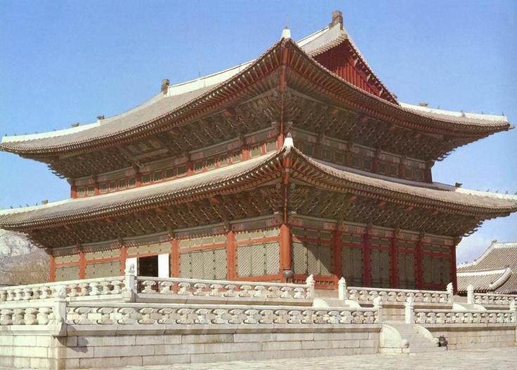 경복궁 근정전   Geunjeongjeon Hall of Gyeongbokgung Palace , Seoul , Korea