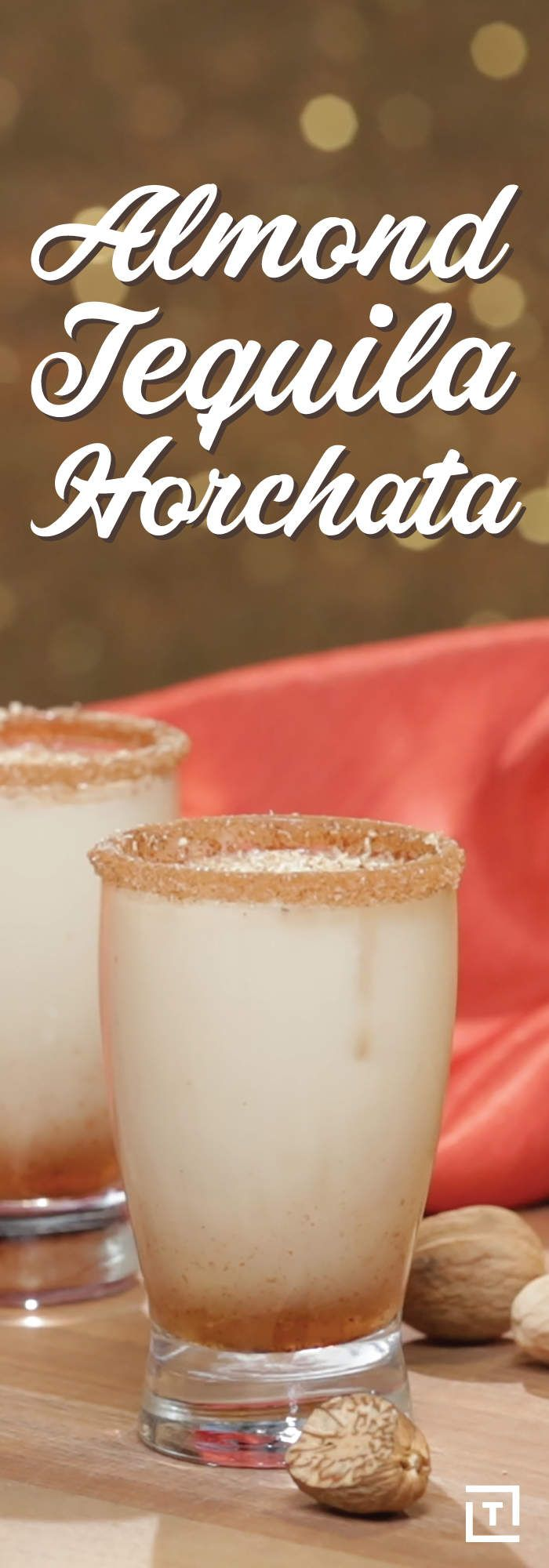 Tequila, meet horchata. We're firm believers that tequila is always a good idea, mostly because if we said it wasn't you'd still drink it just as much (if not more). Ditch the shots and slow your roll for something a bit sweeter, like this absurdly delicious recipe for an almond tequila horchata. We can't decide if it's the tropical vacation you can't afford in a glass, or if it's the boozy milkshake you've always dreamed of -- all we know is it's damn good and you need to make it now.