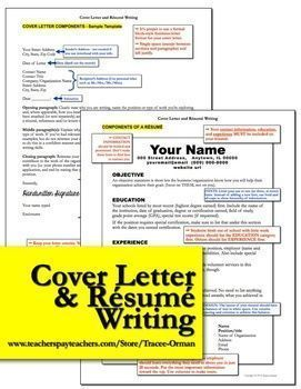 Resume and Cover Letter Writing: This bundle is not just for students. If YOU need help writing your resume and letter of application, I included a sample for a teacher. High school, new teacher, English language arts, writing.