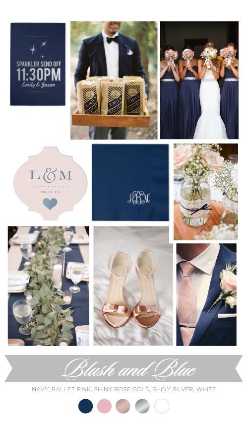 Blush & Blue | ForYourParty Blog | Wedding and Party Trends