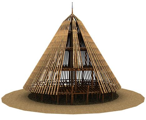 This project by architecture collective Rumah Asuh involved the repair and reconstruction of the last remaining traditional thatched residences on Flores Island, Indonesia.