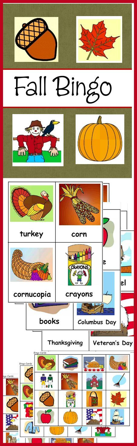Here's a fun FALL / Autumn Bingo game for your family, class or co-op! Includes word cards, markers and 20 bingo cards! Download club members can download @ http://www.christianhomeschoolhub.spruz.com/pt/Fall-Related-Resources/wiki.htm