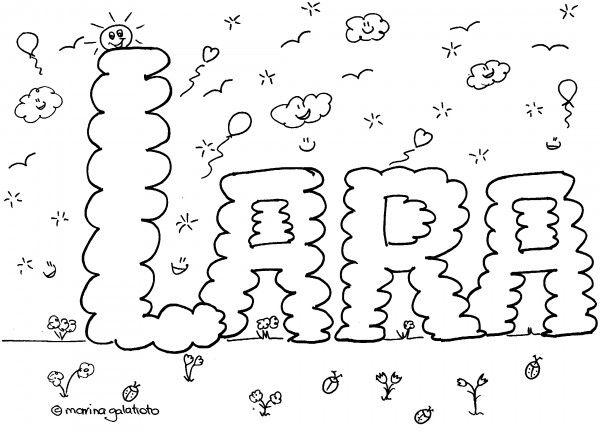 Nomi da colorare, Lara #colorailtuonome #nomidacolorare #bambini #colorare #stampare #giochiperbambini #disegniperbambini http://www.mondofantastico.com/index.php/nomi-da-colorare-femminili-lara-su-mondo-fantastico/