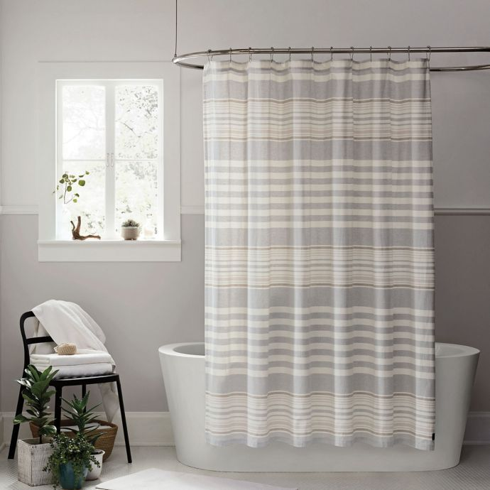Ugg Lunar Stripe Shower Curtain In Seal Bed Bath Beyond With