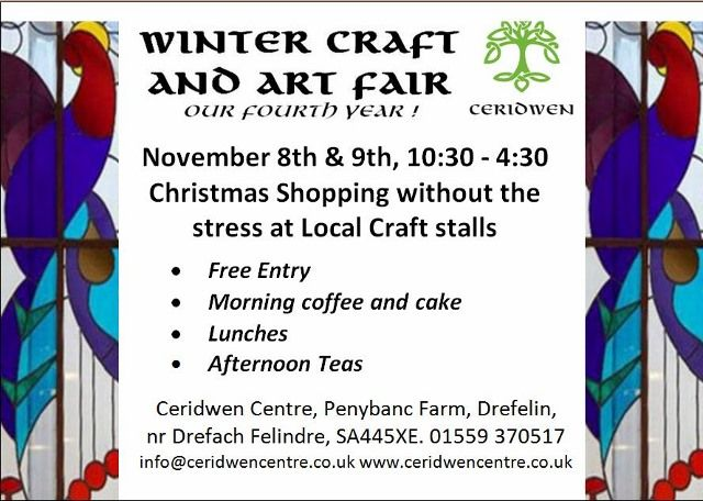 Winter Craft Fair, 8th & 9th Nov | Ceridwen Centre
