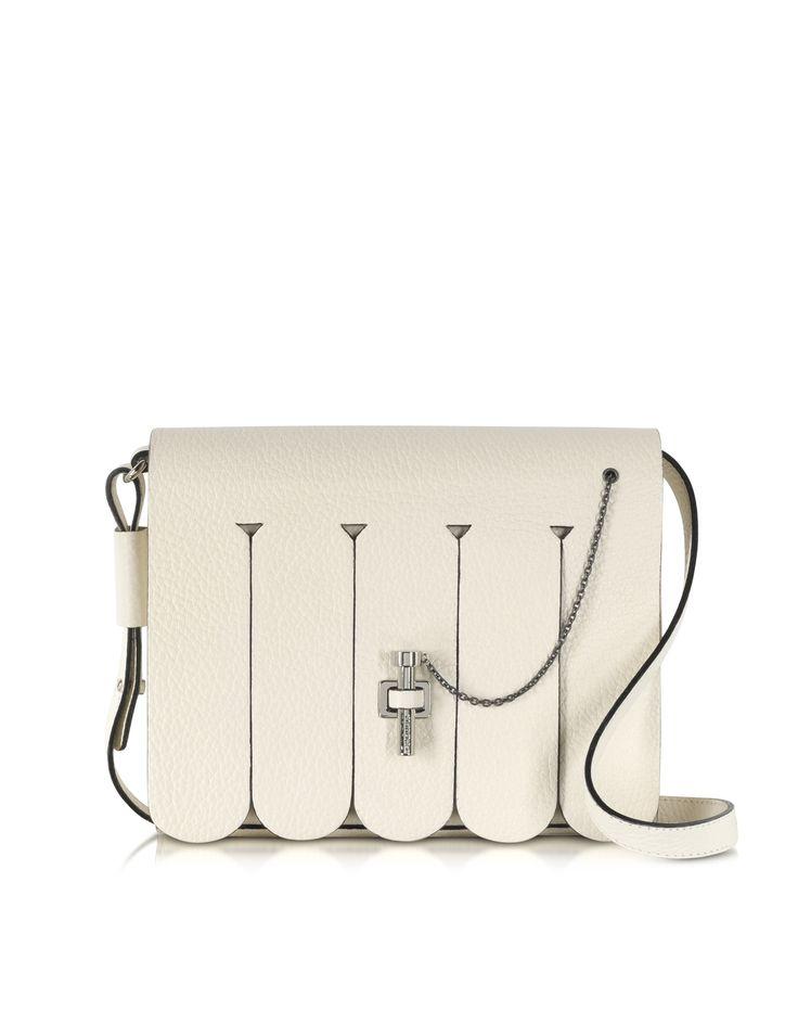 Carven Ivory Malher Fringe Bag at FORZIERI