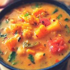 Moroccan Coconut and Chick Pea Soup I will need to substitute for the chick peas (lentils?) Change white potato to sweet potato Change agave nectar to stevia