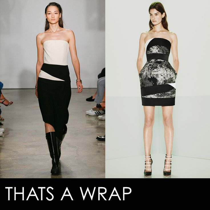 A combination of geometric and sculptural, this trend cocoons the body without adding bulk. Up the drama by sticking to a black and white palette
