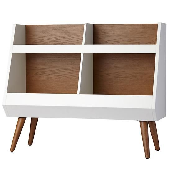 Next Chapter Modern Bookcase (Walnut/White) | The Land of Nod