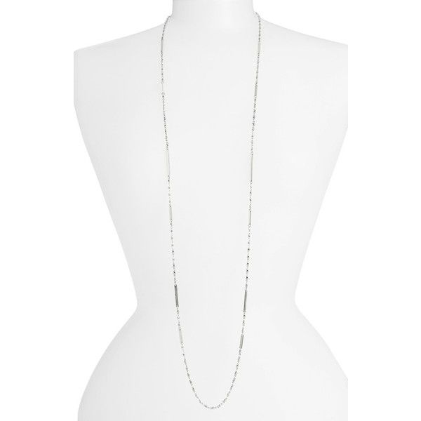 Women's Nordstrom Bar Station Necklace ($35) ❤ liked on Polyvore featuring jewelry, necklaces, polka dot necklace, chain link necklace, chain link jewelry, dot jewelry and chain link necklaces