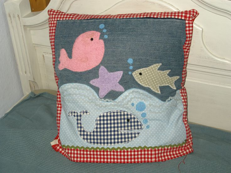 Cushion with applique #sewing #kids #crafts  #cushion #application