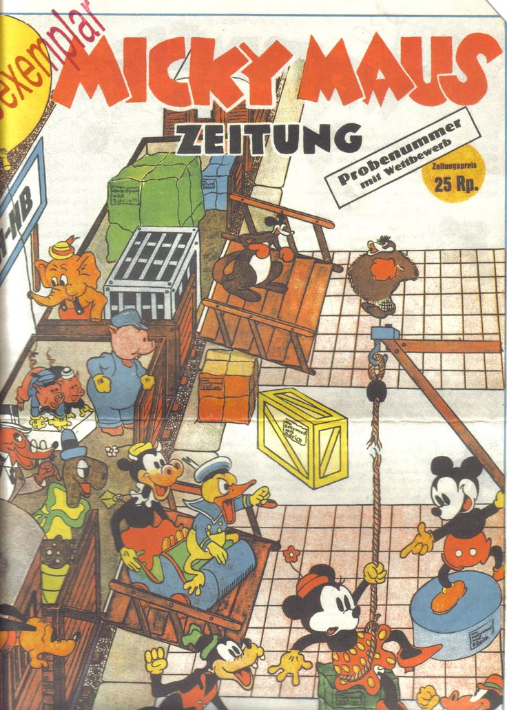 Switzerland - Micky Maus Zeitung (German) (reprint) Scanned image of comic book (© Disney) cover