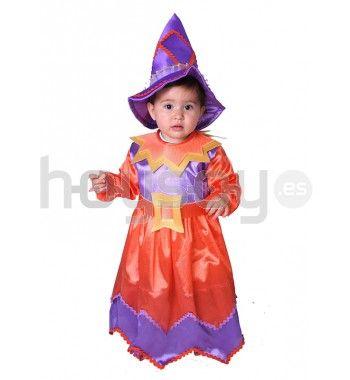 Original #disfraz para bebé de #brujita para disfrutar de tu fiesta de #Halloween #Disfraces
