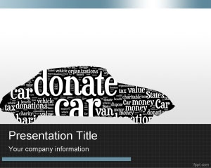 Donate Car PowerPoint Template is a nice design for car donation organizations and non profit organizations who need a car template theme for presentations