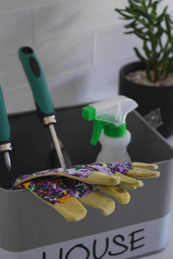 You might have hard of a cleaning caddy but how about a gardening caddy to help cut down time when you're out in the yard?