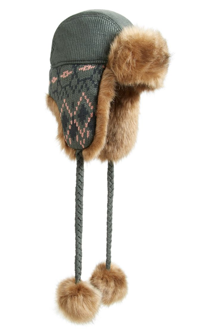 Helly Hansen Knitted Faux Fur Trapper Hat