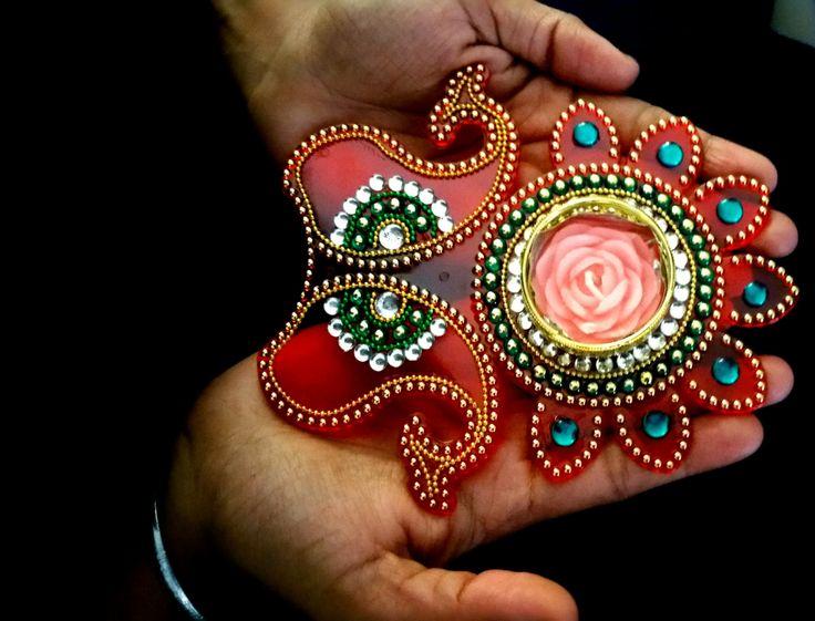 Diwali diya, Diya, Diwali gift, Diwali decoration, Diwali candle holder, Diwali, Floating Tealight Candle holder Diva FL307 by JustForElegance on Etsy