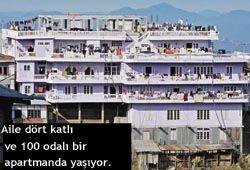 dünyanın en kalabalık ailesi -Bunun kadar olmazsa da buna benzer hikayelerle Türkiye de güneydoğuda rastlanmak mümkün, fakat bu inanılmaz ve gerçek hikaye herkesi şaşırtıyor. Hindistan'da seçimler sürerken 39 eş ve 127 çocuğu olan Zionnghaka Chana adlı seçmen tüm yerel politikacıların ilgi odağı oldu.