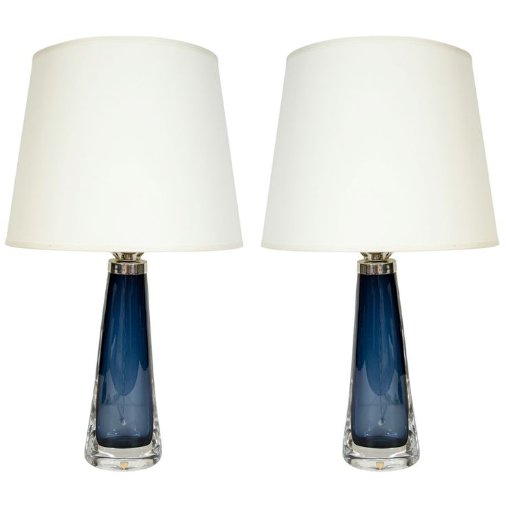 Pair Of Orrefors Crystal Lamps | From a unique collection of antique and modern table lamps at http://www.1stdibs.com/furniture/lighting/table-lamps/