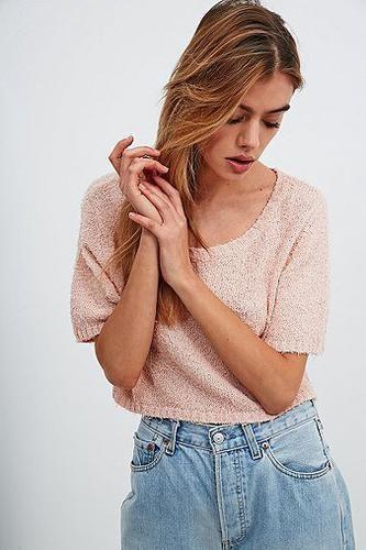 Minkpink Wayward Sun Crop Knit in Pink #knitwear #covetme #minkpink