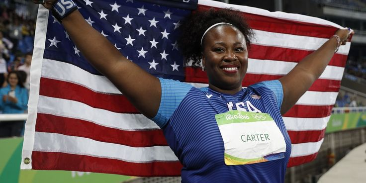 Michelle Carter Becomes First American Woman To Win Gold In Shot Put
