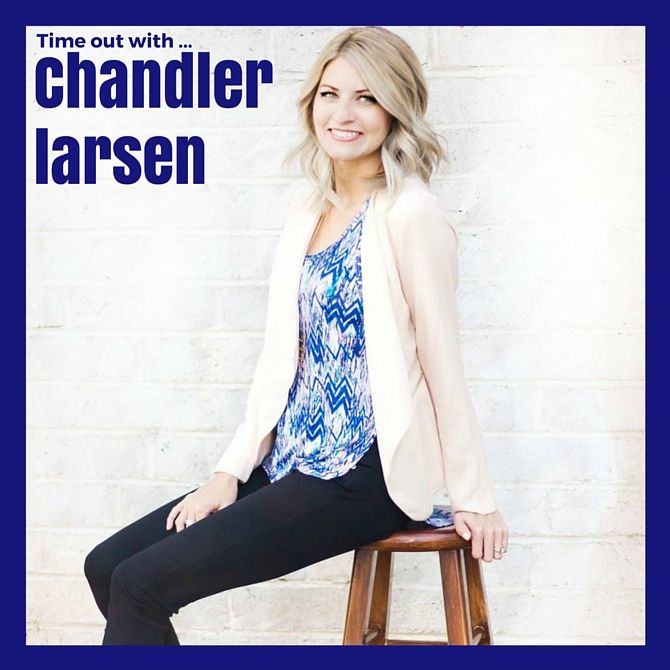 Blogger Chandler Larsen takes time out to talk about her blogging with Angelique Jurd