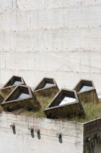 La Tourette | Le Corbusier skylight, concrete