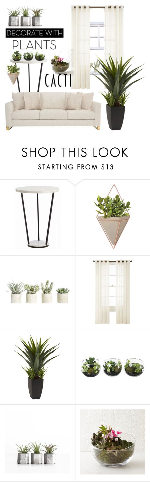 """""""Plants!"""" by thais-santana-1 ❤ liked on Polyvore featuring interior, interiors, interior design, home, home decor, interior decorating, Bernhardt, Umbra, Allstate Floral and Royal Velvet"""