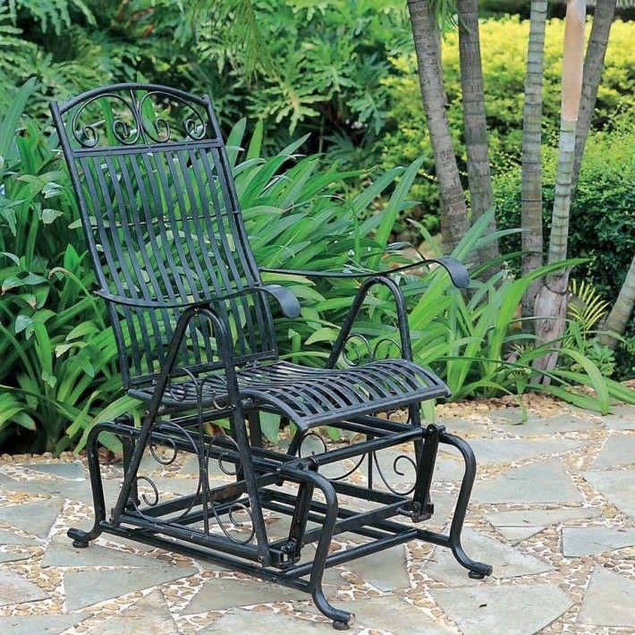 Tropico Iron Single Patio Glider Chair