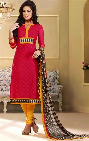 Picture of Glamorous Red Color Salwar Suit