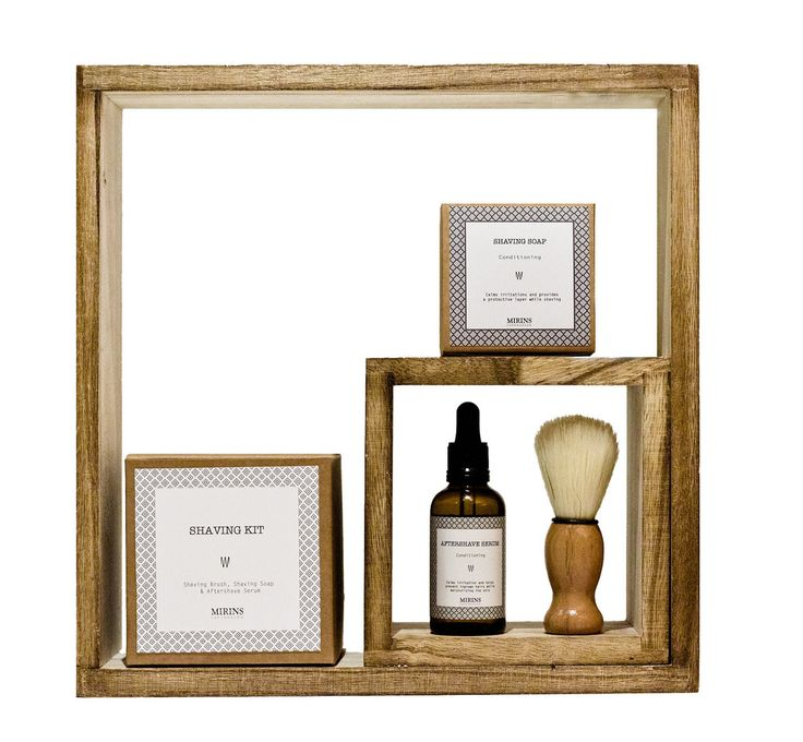 Shaving Kit - The men in your life will love this luxurious yet simple shaving kit; perfect for home or travel!   Includes shaving soap, shaving brush and aftershave serum