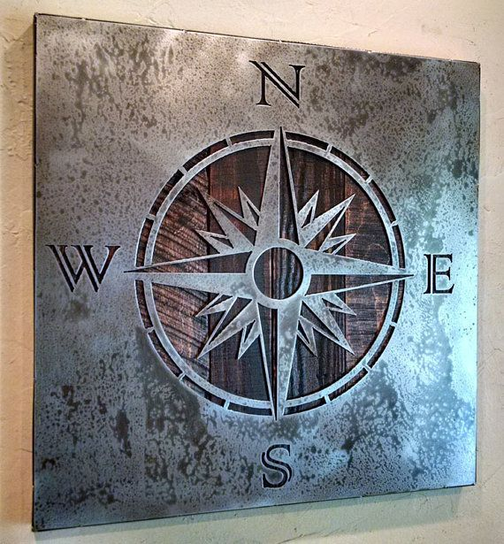 Hey, I found this really awesome Etsy listing at https://www.etsy.com/listing/240509839/compass-rose-wall-art-metal-art