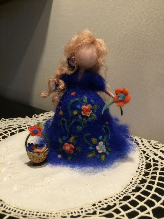 Being mother, needle felted doll, waldorf inspired, Wool doll, gift, soft sculpture