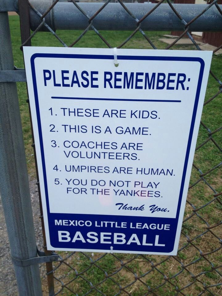 Little League baseball sign