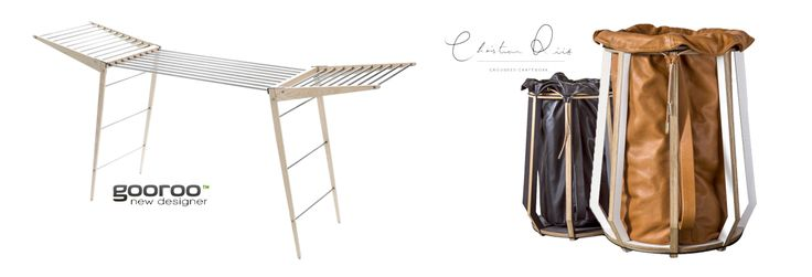Great laundry basket from Grounded Craftwork and Gooroo rack basic with wings