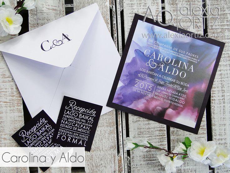 Invitaciones de boda diseño de acuarela / wedding invitations