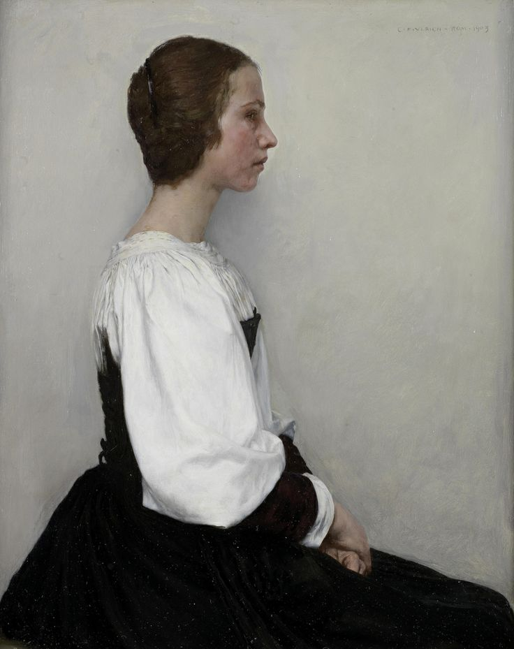 Charles Frederic Ulrich: Portrait of a young lady, 1903. Wonderfully limited palette.