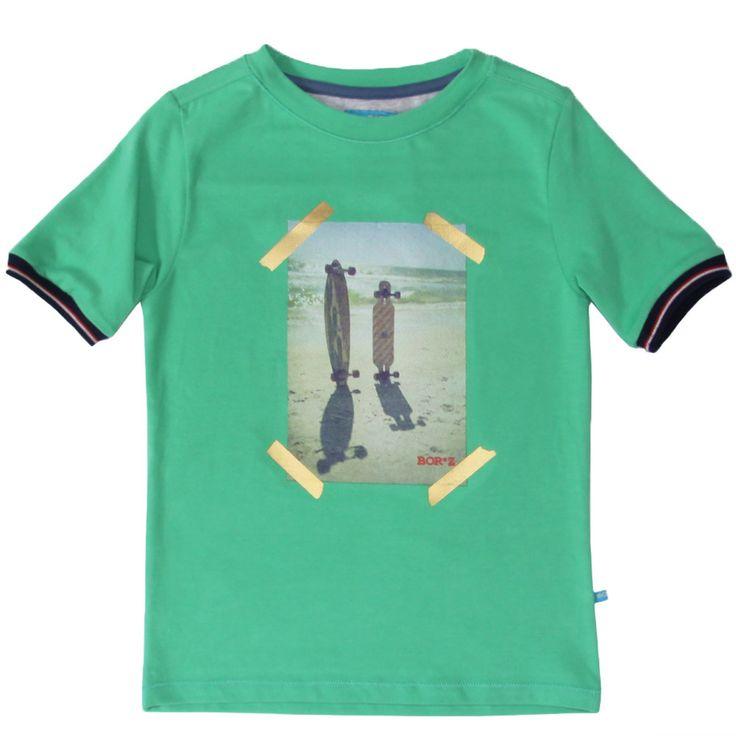 T-shirt for surfboys, boys, maat 86/92 - 122/128, Bor*z SS15 #monkeyandbutterfly