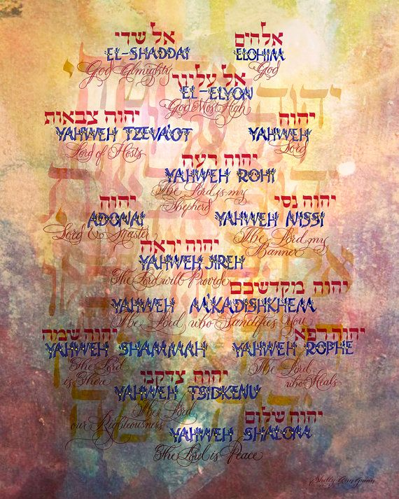 hebrew names of god and their meanings pdf