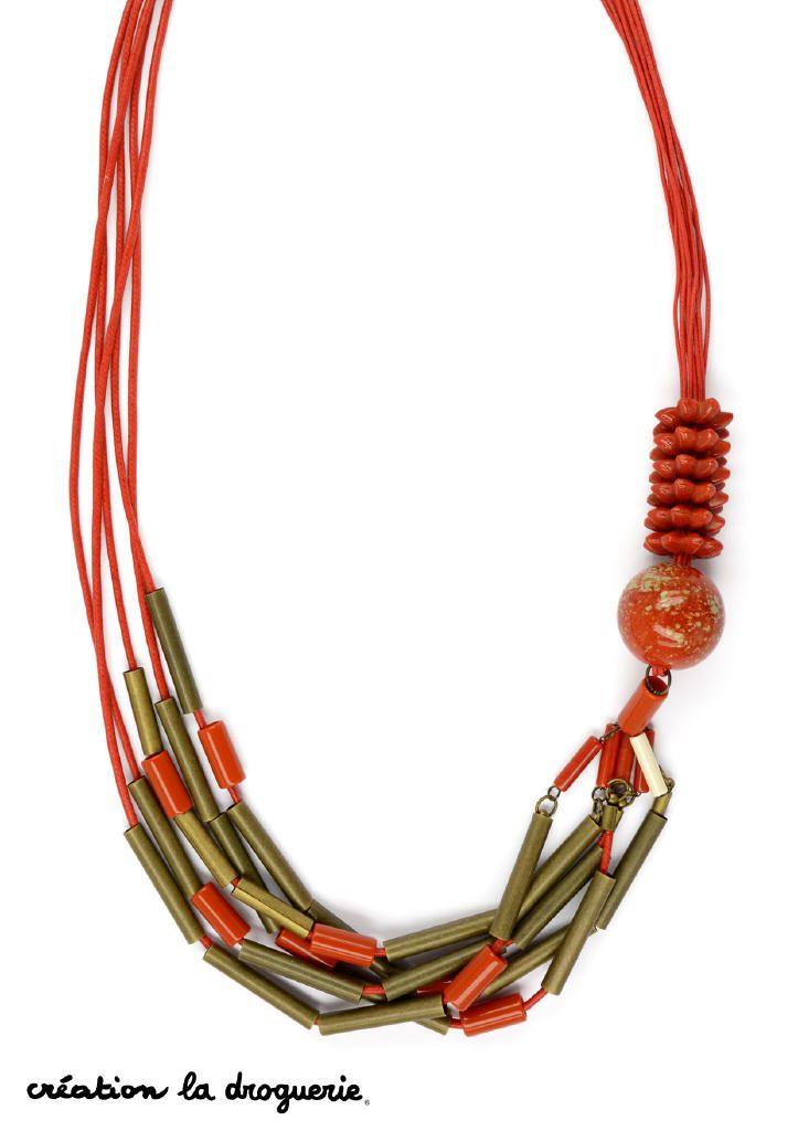 Un joli collier aux couleurs chaudes pour cet été ! #ladroguerie # ...