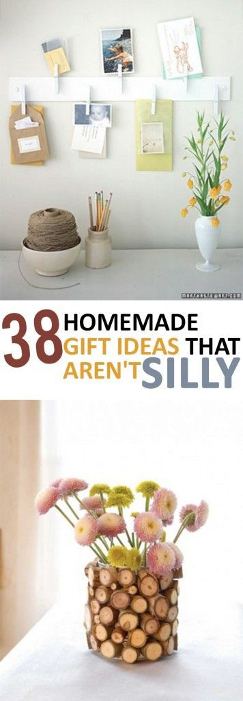 38 Homemade Gift Ideas that Aren't Silly. #save #gifts #presents #ideas #diy #mom #blogs