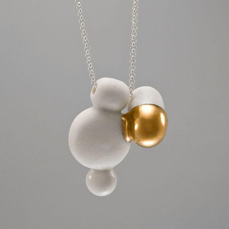BULBS 1  – Porcelain jewelry by Anna Kiryakova http://annakiryakova.de/en/category/kollektion/bulbs/