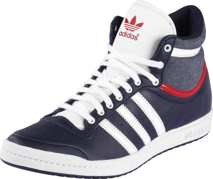 Adidas Top Ten Hi Sleek W schoenen blauw wit rood