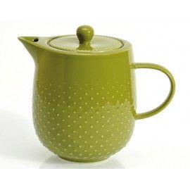 Tetera de porcelana color verde
