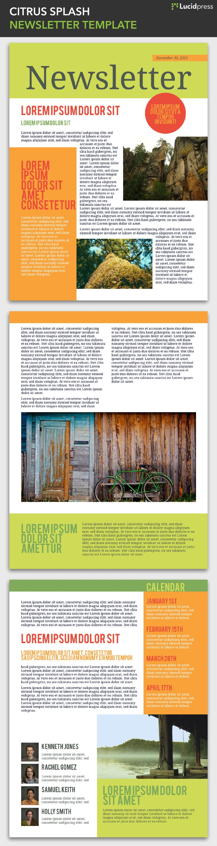 Best Free Magazine  Newsletter Templates Images On