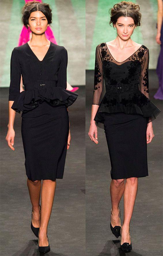 Черные платья средней длины