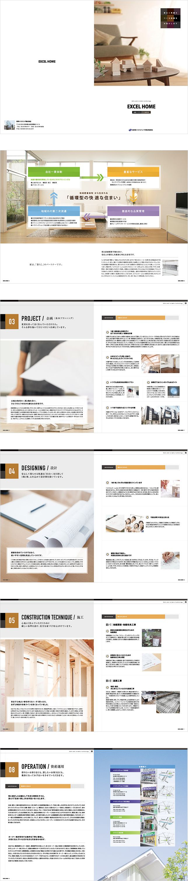 マンション・不動産・投資物件パンフレット・カタログ制作実績写真
