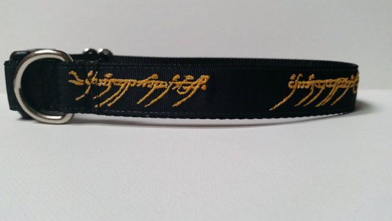 Lord of the Rings Inspired Embroidered Dog Collar by SaintTiger, $18.00