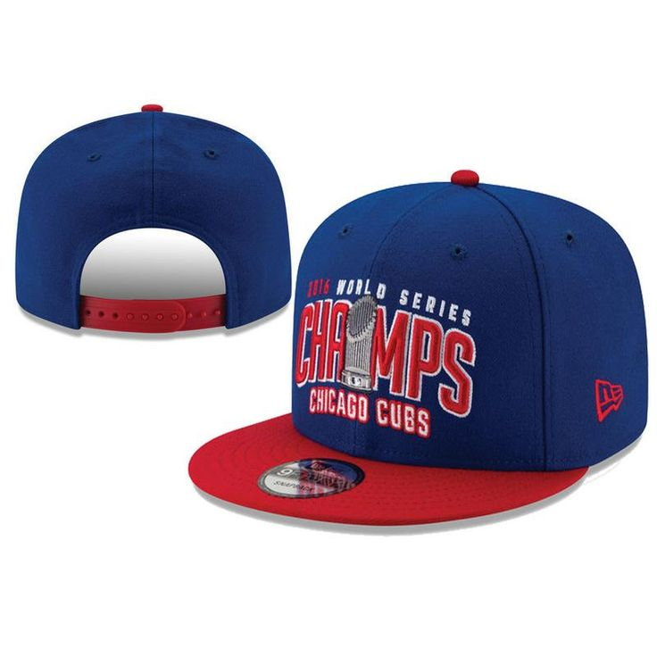 Men's Chicago Cubs New Era 2016 World Series Champions Two-Tone 9FIFTY Snapback Hat - Royal / Red